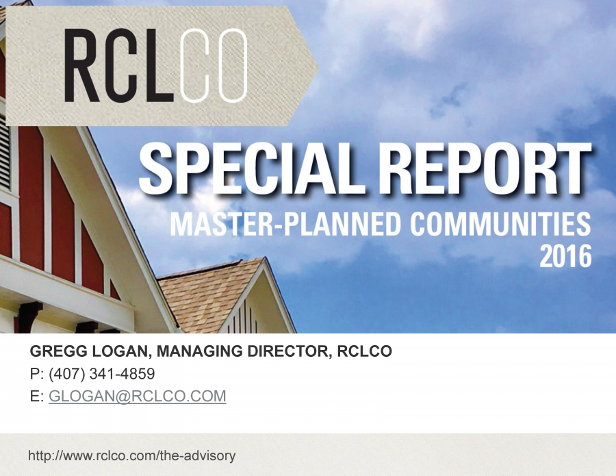 RCLCO 2016 Special Report