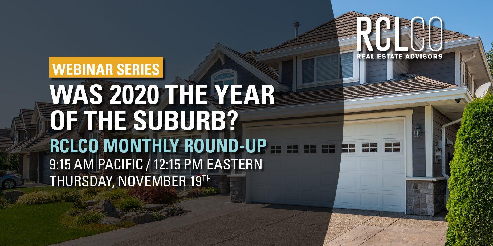 RCLCO COVID Round-Up: November 19, 2020