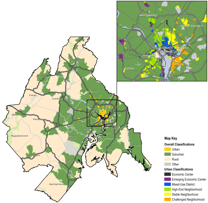 Neighborhoods by Type; Washington-Arlington-Alexandria, DC-VA-MD-WV MSA