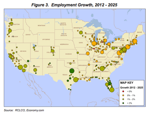 Figure 3. Employment Growth, 2012-2015