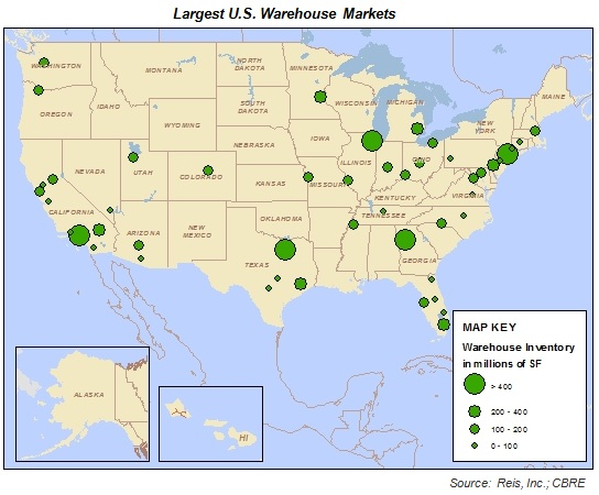 Largest US Warehouse Markets