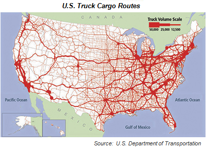 US Truck Cargo Routes