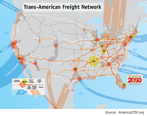 Trans-American Freight Network