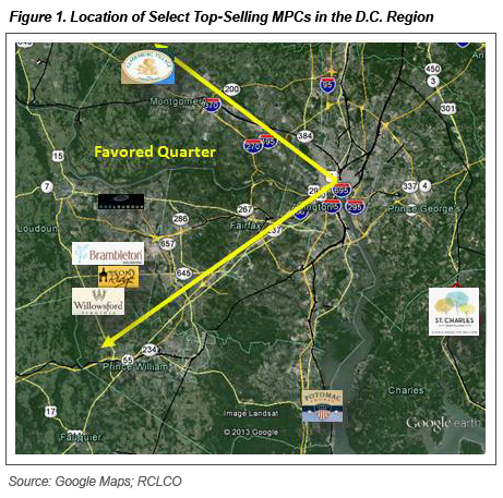 Figure 1 - Location of Select MPCs in DC