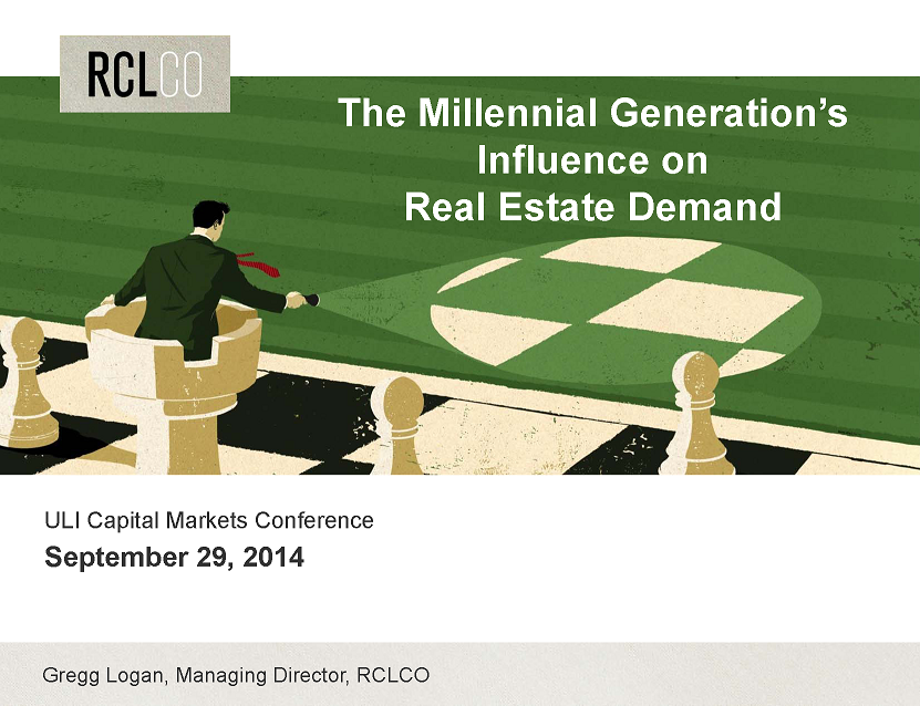The Milennial Generations' Influence on Real Estate Demand